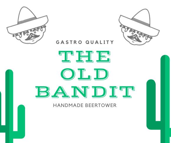 The Old Bandit csapoló torony - antikolt bronz